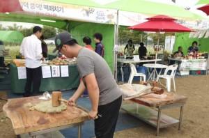捣米壳,用来制作韩国传统米糕