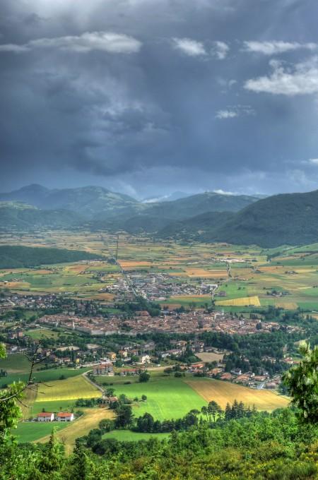 从Strada della Muraglione 俯瞰诺尔恰(Norcia),