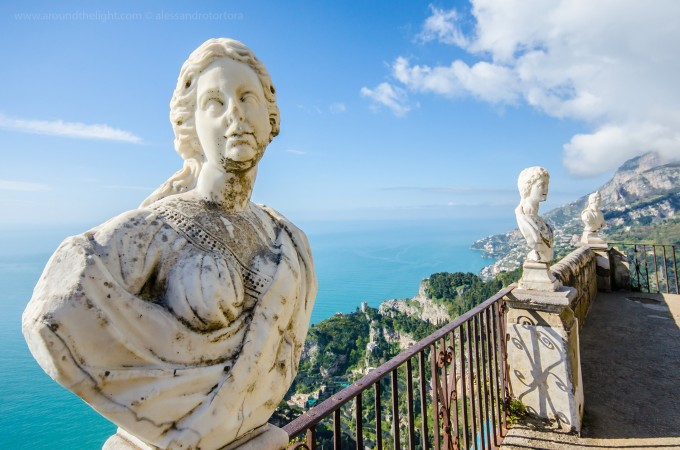Villa Cimbrone, Ravello的雕塑
