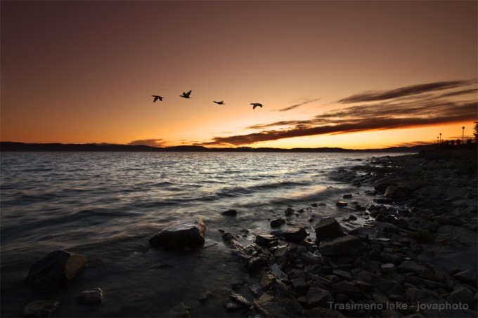 特拉西梅诺湖(Lago Trasimeno)