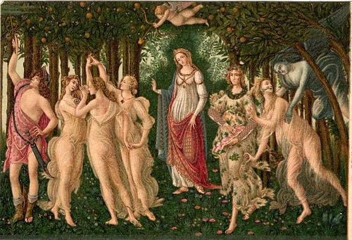 乌菲奇美术馆藏的Primavera ,Sandro Botticelli画作,Lynn拍摄