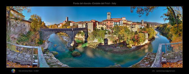 Ponte del diavolo, Cividale del Friuli,Andrea Rossi拍摄