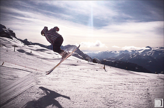 在Madonna di Campiglio滑雪,Il Della拍摄