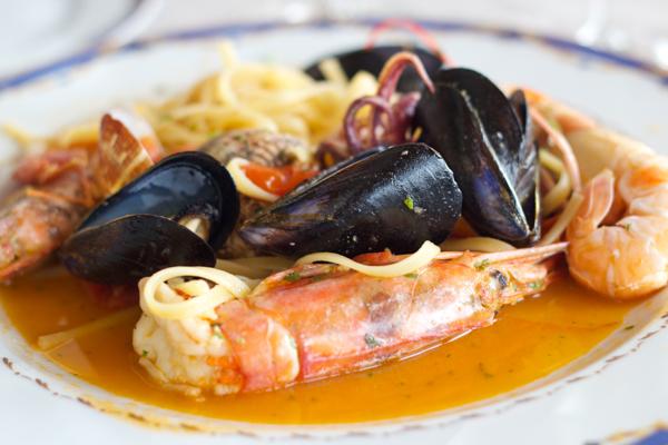 意大利面配海鲜