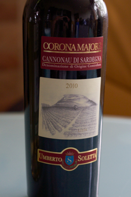 Corona Majore Cannonau di Sardegna DOC, Tenute Soletta