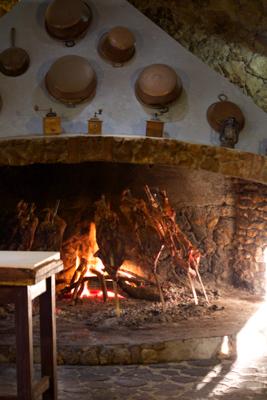 正在烘烤的Porcetto (乳猪)