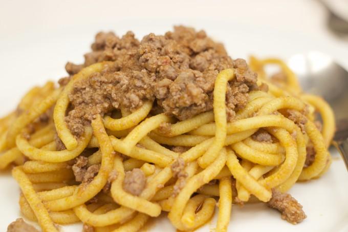 BIGOLI CON ANATRA(扁平细面配鸭肉酱)
