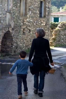 我儿子和他的MADRINA(干妈)