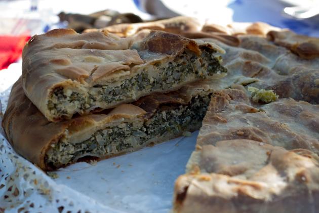 TORTA VERDE(开胃馅饼,以瑞士甜菜、洋蓟和乳清奶酪填馅)