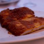 Cotoletta alla parmigiana(鸡肉裹上巴马臣脆皮后煎熟)