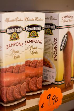 Zampone(一种在猪蹄中填入香肠的菜)