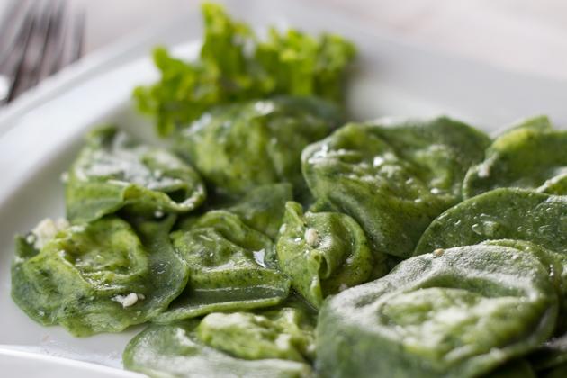 Tortelloni di spinaci(新鲜填馅菠菜意大利面)