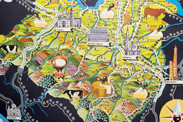 PARMGIANO-REGGIANO产地地图