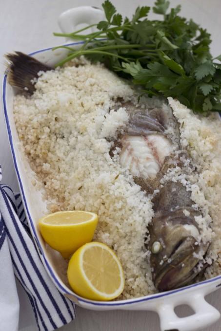 BRANZINO IN SALE(用盐结晶烘焙的海鲈)