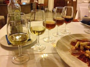 雪莉酒品种(从左到右):Manzanilla、Fino、Amontillado、Palo Cortado和Oloroso,Michal Osmenda拍摄