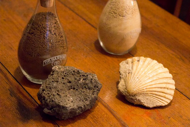 土壤的组成成分:石灰岩和贝壳