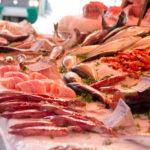 BALLARO市场的新鲜海鲜