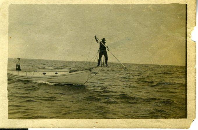韦斯特波特的渔人用捕鱼叉扎鱼,《发现韦斯特波特》拍摄
